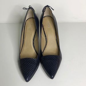 Gorgeous levity jalonevnavy blue pumps with bows